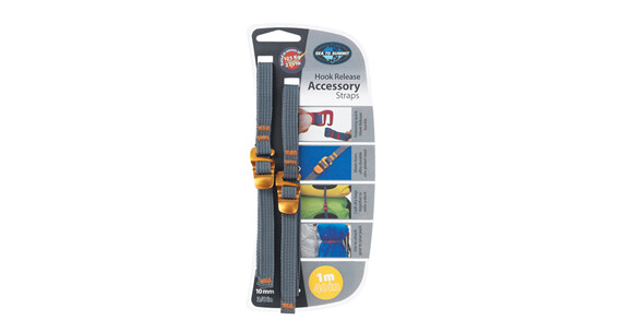 Sea to Summit Tie Down Accessory Strap with Hook 10mm 1m Yellow